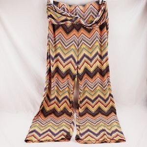 Robert Louis Multicolored Wide Leg Stretch Pants L